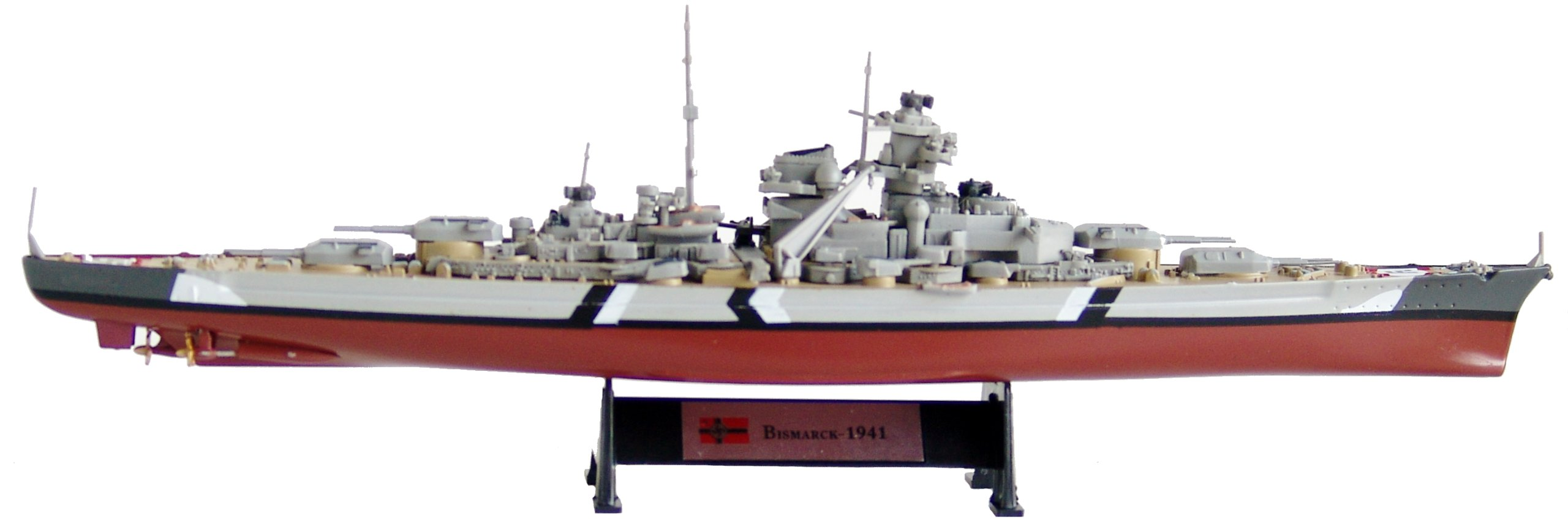 Bismarck 1941 - 1:1000 Ship Model (Amercom ST-1) by Bismarck