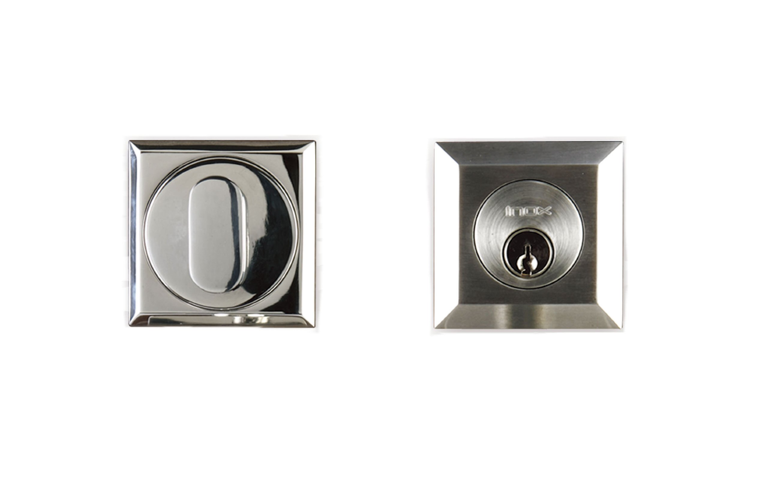 INOX SD320B6-32D Square Double-Cylinder Deadbolt, Satin Stainless Steel