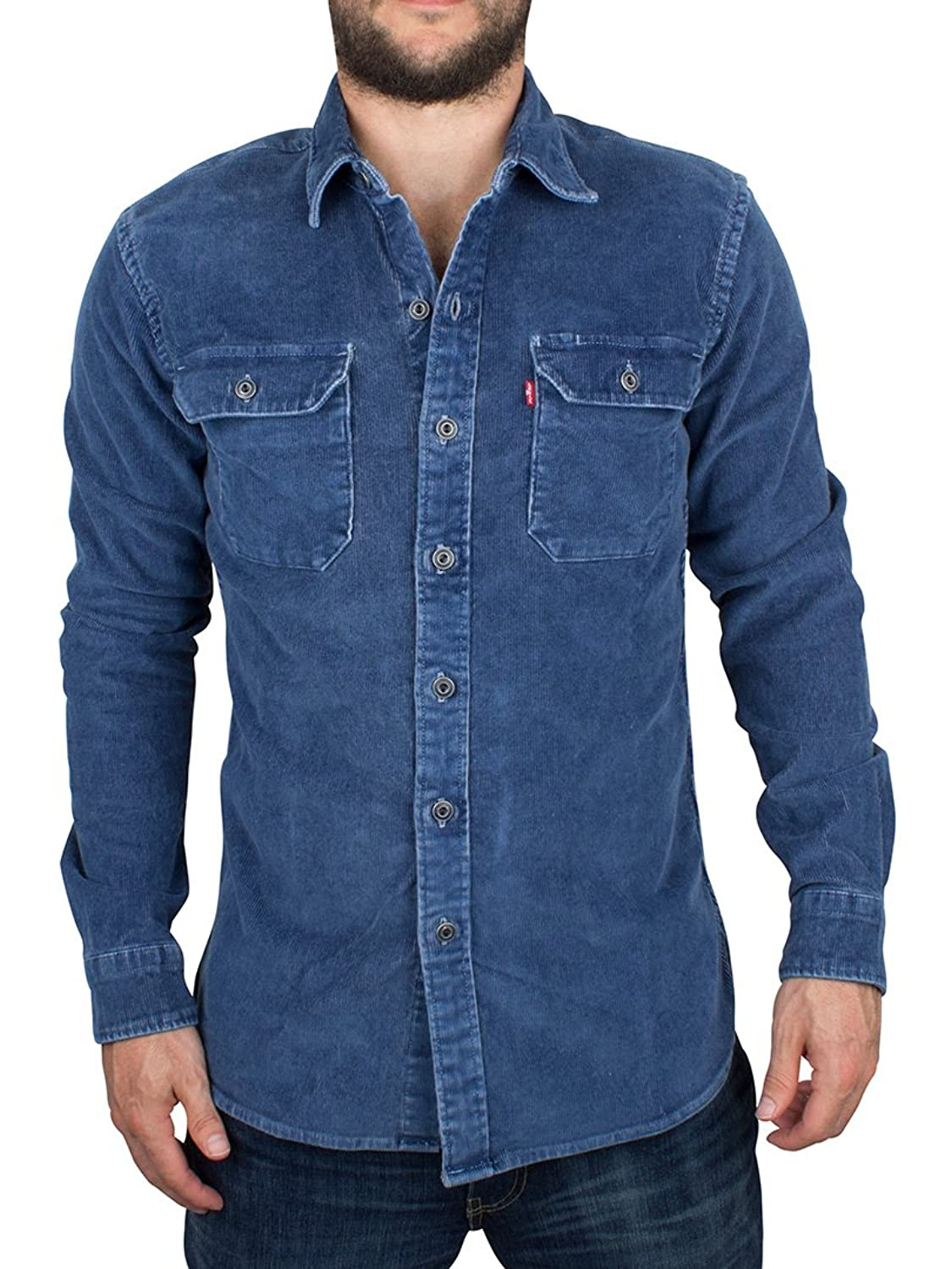 Levi's Herren Jackson Worker Authentic Wash Over, Blau