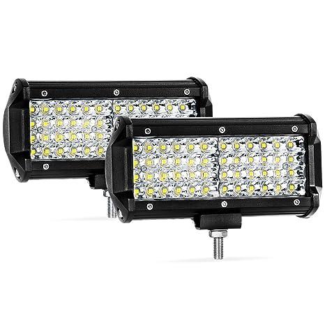 Amazon quad row led pods 2pcs 65 288w led light bar spot quad row led pods 2pcs 65 288w led light bar spot beam led cubes aloadofball Choice Image