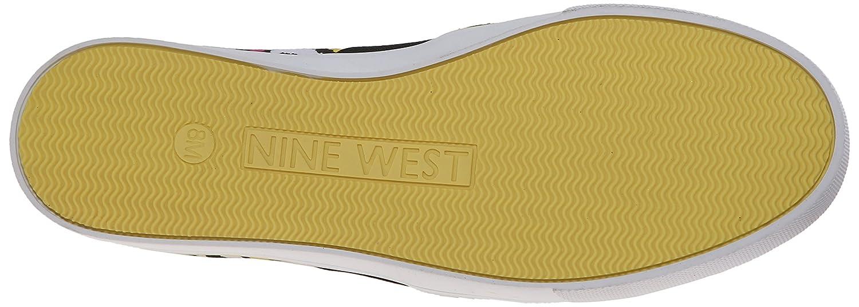 Nine West Women's Bonkers Canvas Flat B00U23Y3VW 8 B(M) US|White/Multi