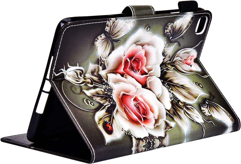 Mini 2 Kompatibel mit iPad Mini Mini 3 Mini 4 Mini 5 H/ülle Magnetische Flip Case PU Leder /& Silikon Case Cover Tasche Bookstyle Tablet Lederh/ülle Schutzh/ülle mit St/änder Funktion,Katze /& Mond