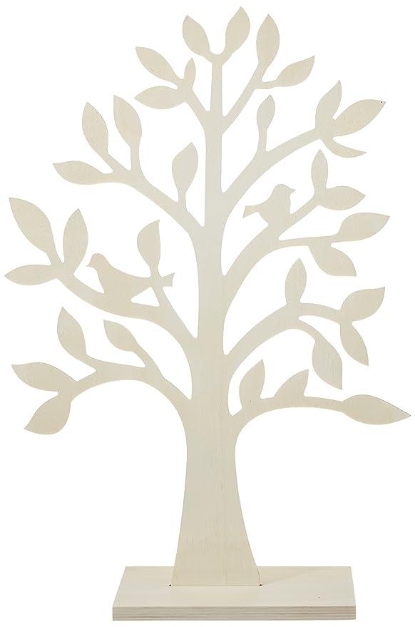 Rayher 62274000 Holz Baum für Schmuck, zum Selbergestalten, Höhe 50 cm