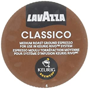 Lavazza Espresso Classico Keurig Rivo Pack, 18 Count