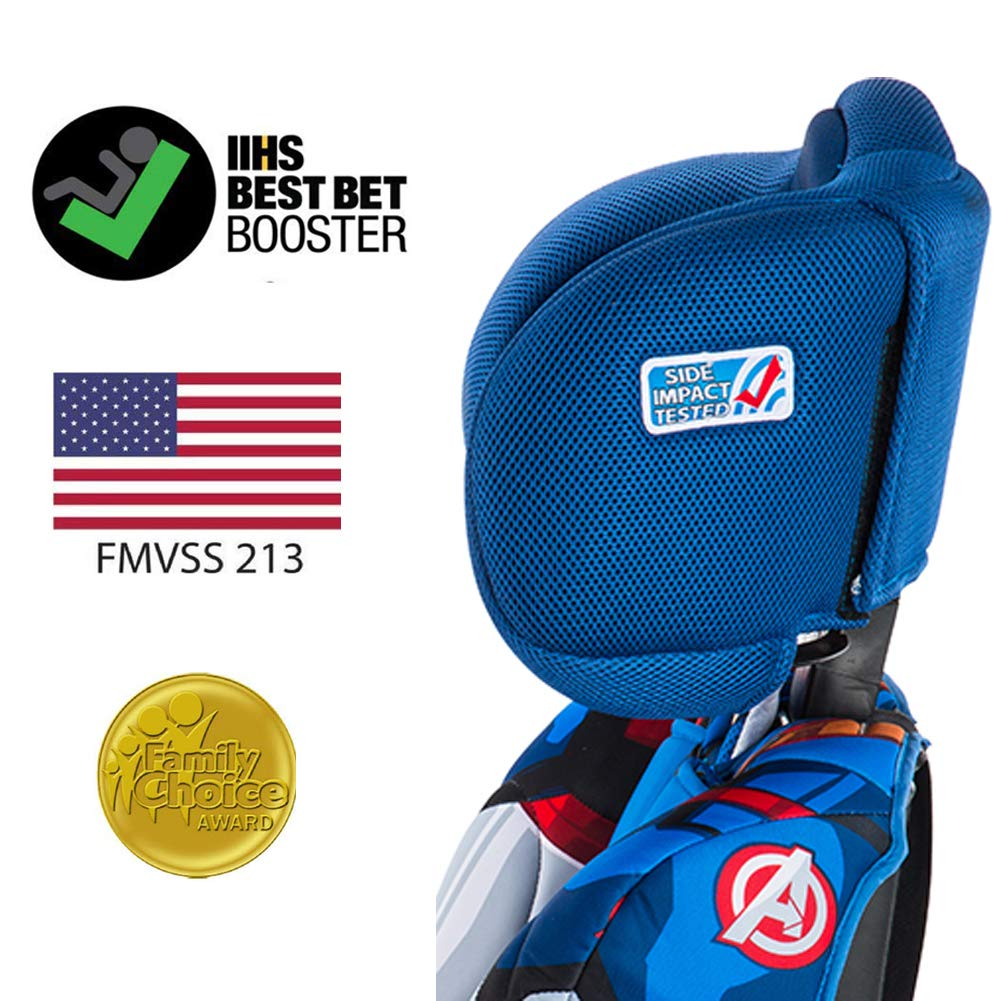 Marvel Avengers Iron Man KidsEmbrace 2-in-1 Harness Booster Car Seat