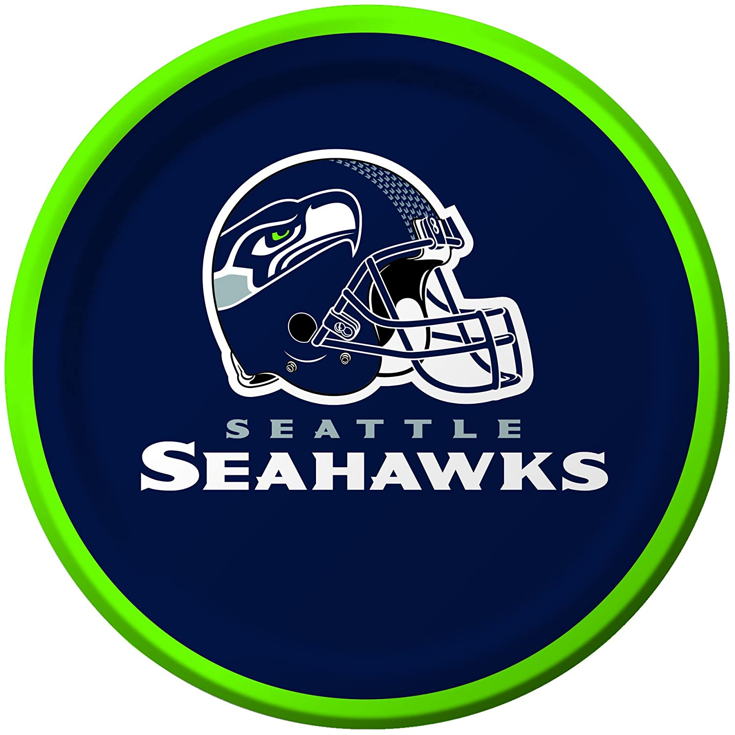 Creative Converting 8 Count Seattle Seahawks Paper Dessert Plates - 419528