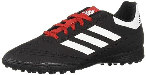 adidas Unisex Goletto VI Turf Football Shoe, Black/White/Scarlet, 1.5 M US Little Kid