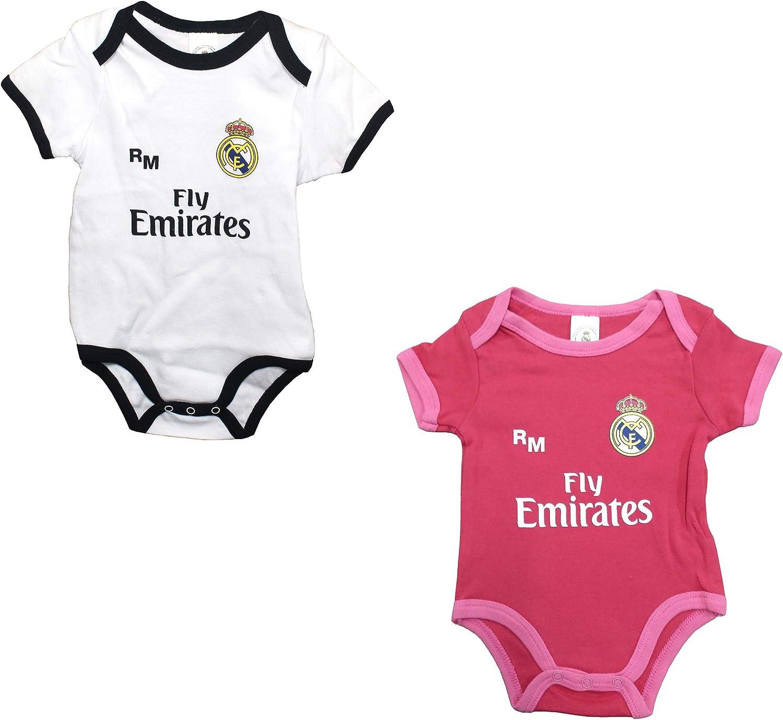 Set 2 Body Real Madrid Niños - Producto Oficial - Temporada 2018/2019 - Primera y Tercera: Amazon.es: Deportes y aire libre