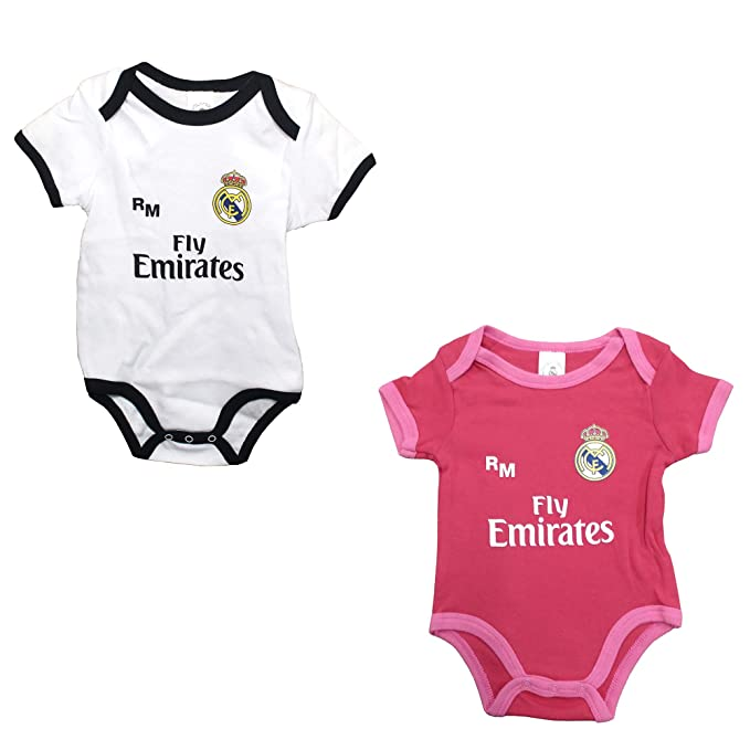 Set 2 Body Real Madrid Niños - Producto Oficial - Temporada 2018/2019 - Primera y Tercera Equipación