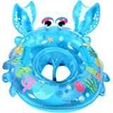 UClever Baby Inflatable Pool Float Infant Crab Seat Boat Swim Ring with Handles (Blue)