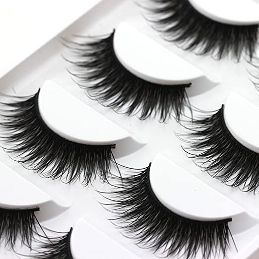 Amazon.com : Amimgo Fake Eyelashes, 5 Pairs Thick False Fake Eyelashes Eye Lashes Makeup Extension (Multicolor) : Beauty