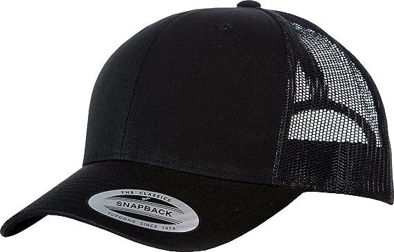 447517b7d96 Colour  Flexfit by Yupoong Retro Trucker Cap (6606) Black Black One Size