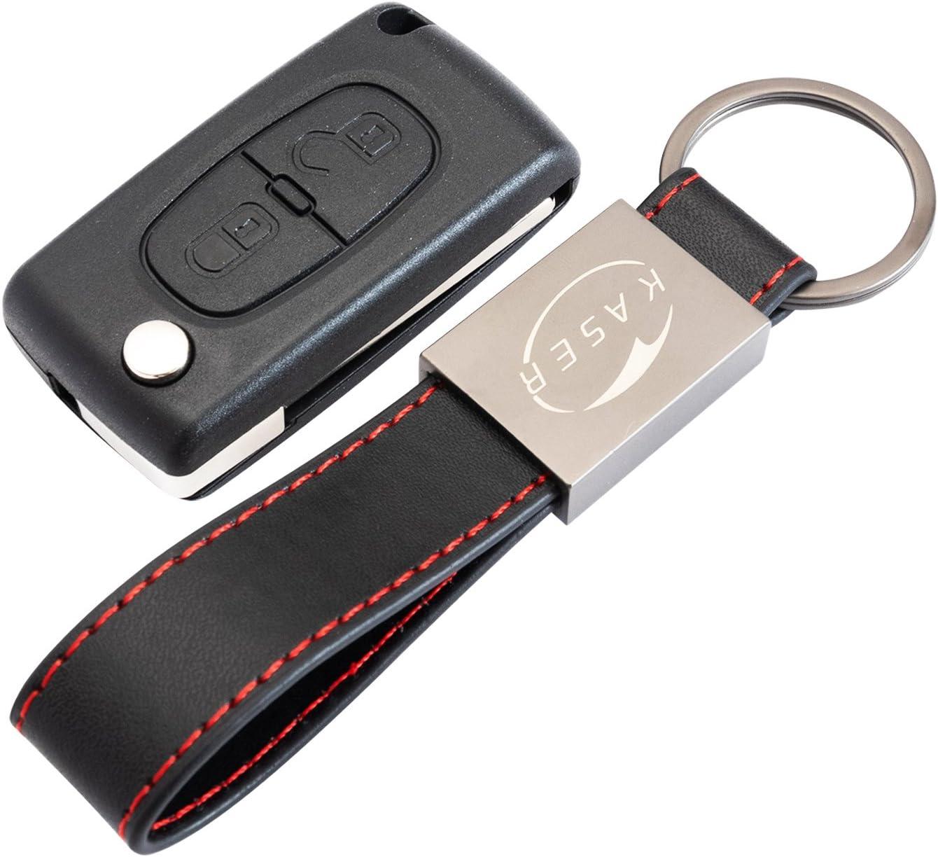 Schlüssel Gehäuse Fernbedienung Für Peugeot 2 Tasten Elektronik
