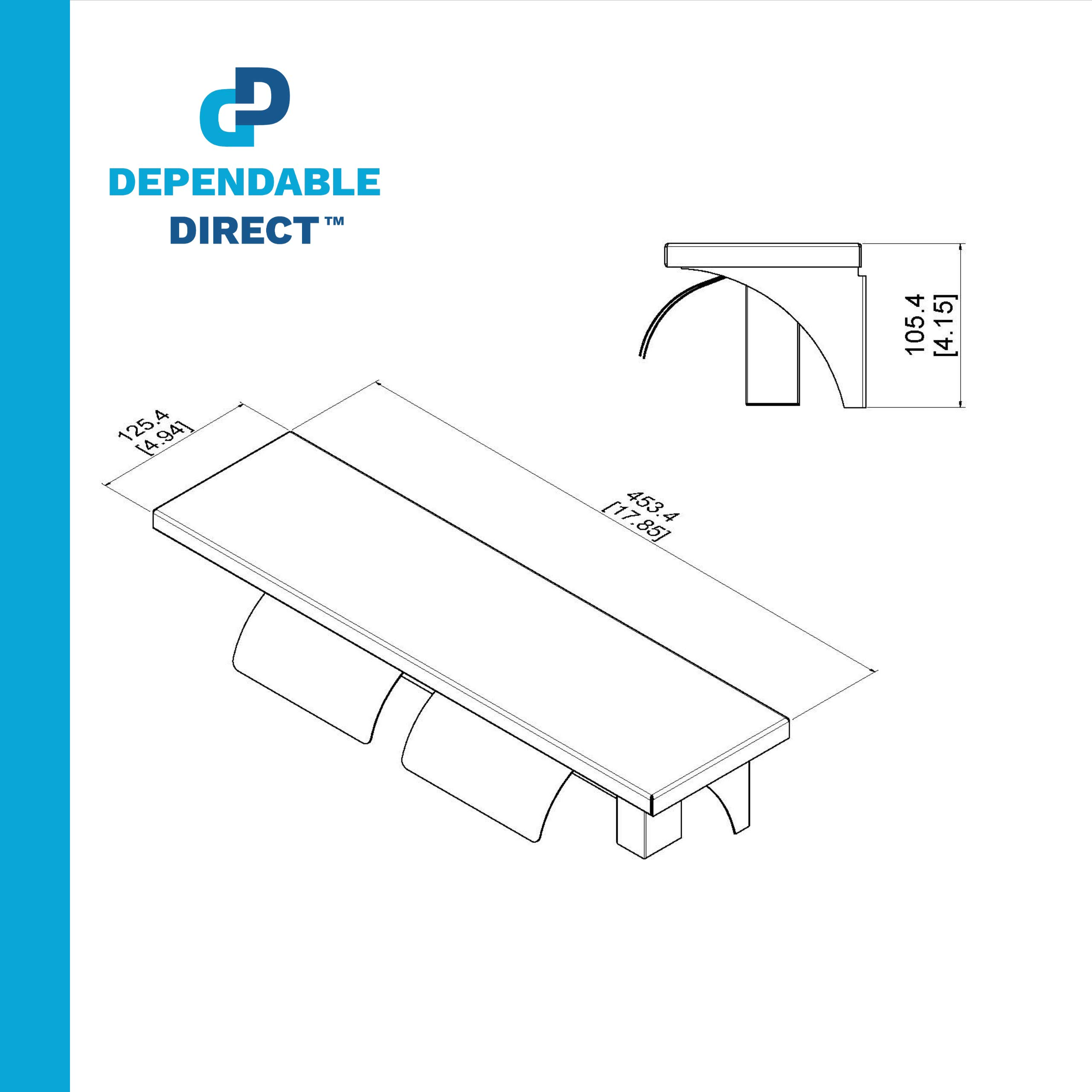 Dependable Direct Pack of 8 - Double Roll Toilet Paper Holder and Shelf - Stainless Steel - Satin Finish - Hooded by Dependable Direct (Image #5)