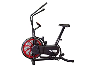 fan exercise bike. marcy fan exercise bike with air resistance system \u2013 red and black ns-1000 r