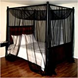 Epoch Hometex Palace Four-Poster Bed Canopy Black & Amazon.com: 83