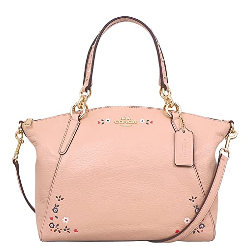 af734eef COACH SMALL KELSEY SATCHEL WITH FLORAL TOOLING F24599, NUDE PINK ...