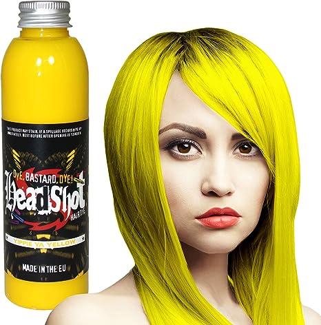 Headshot Tinte Capilar Semi-Permanente Fantasía de 150ml - Yippie Ya Yellow