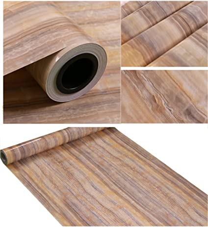 Self Adhesive Vinyl Faux Marble Grain Contact Paper For Kitchen Countertop  Cabinets Backsplash Table Arts Crafts
