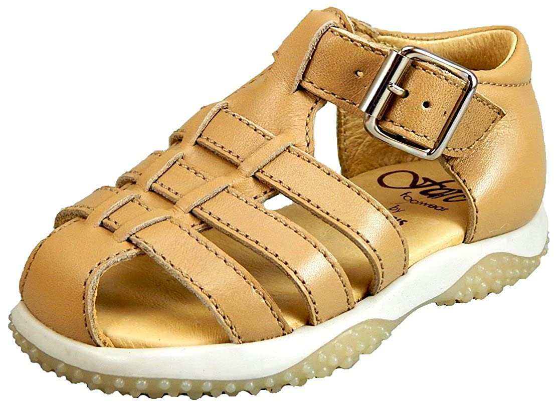De Osu//FARO Boys Butterscotch Tan Leather Fisherman Sandals B-2558 Toddler
