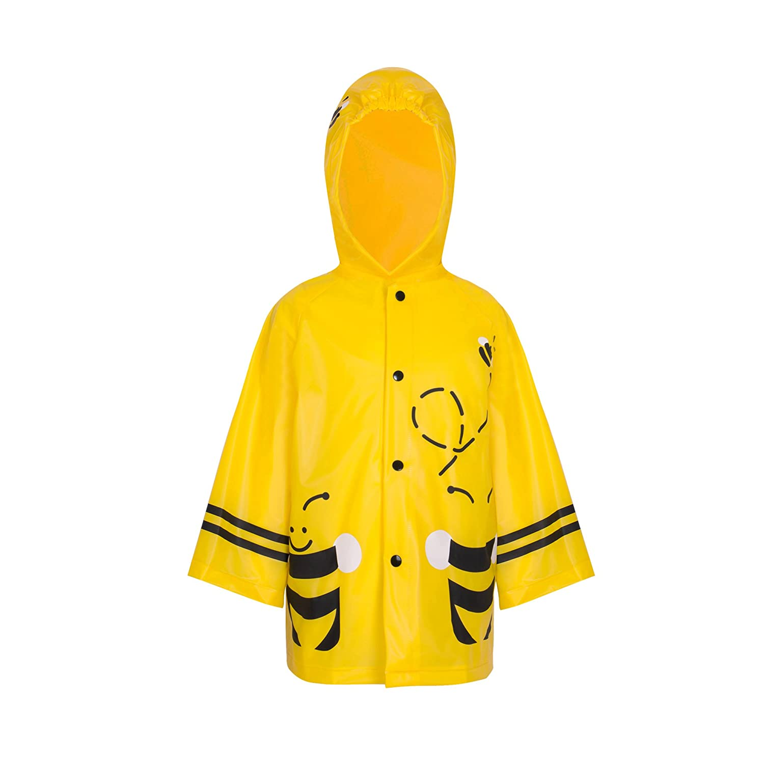 ZDHGLOBAL Children Rain Jacket Portable Poncho and Kids Raincoat with Hoods and Sleeves 1