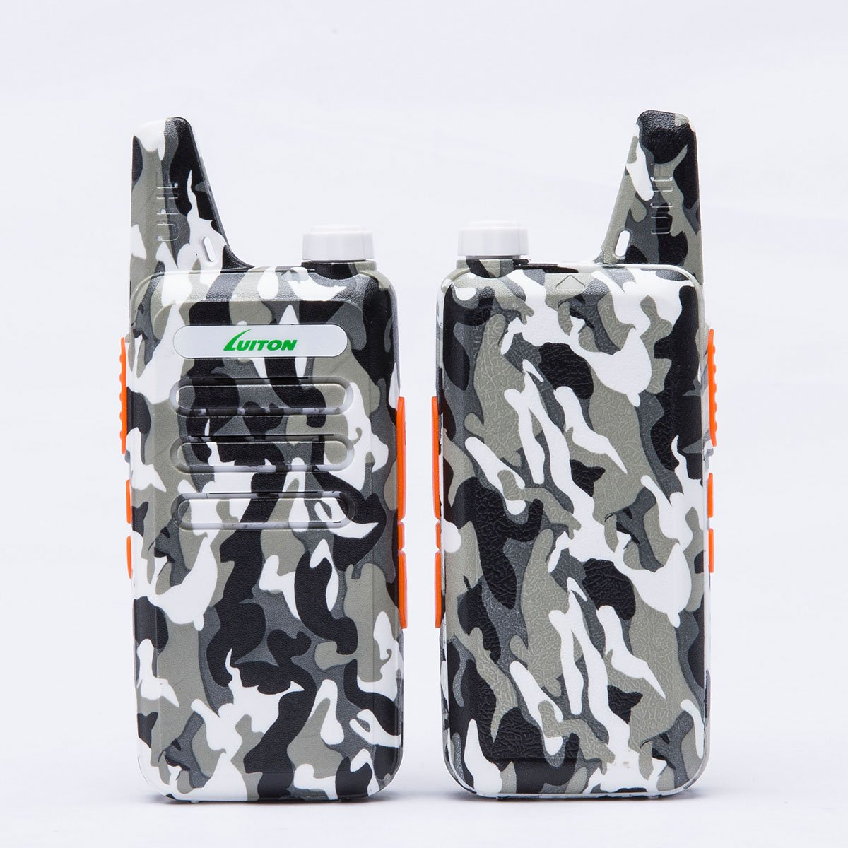 2 Way Radio Walkie Talkies Long Range for Outdoor Camping Hiking Hunting Activities LT-316 Military Camo Mini Uhf Rechargeable Two-Way Radio 5-10 Miles Back to School Ideal Gifts by LUITON (2 Pack) by LUITON (Image #2)