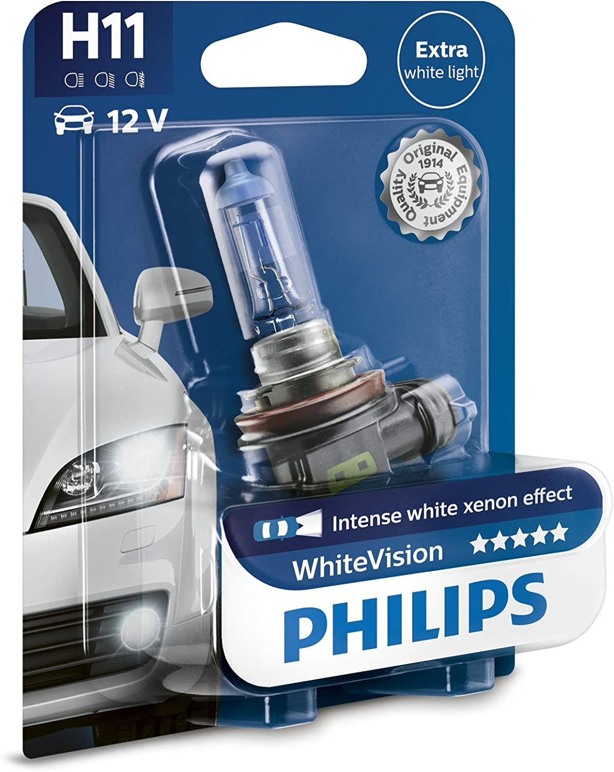 Bombillas H11 Philips White Vision