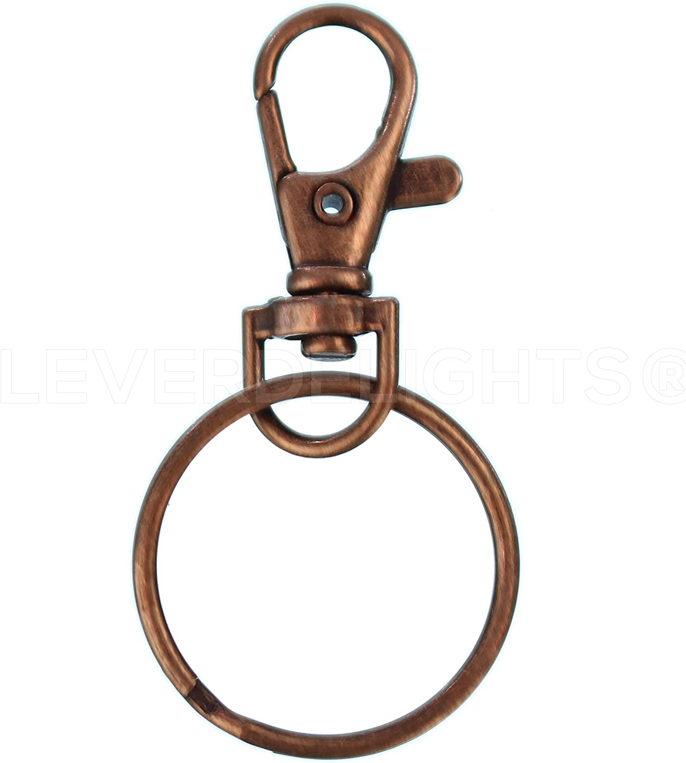 Personalised leather lanyard keyring keychain with trigger snap swivel lobster clip and split ring.