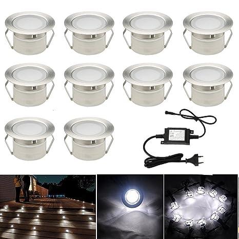 Spot A Encastrable Lampe De Sol Lumiere Blanc Froid Etanche Ip67 1w