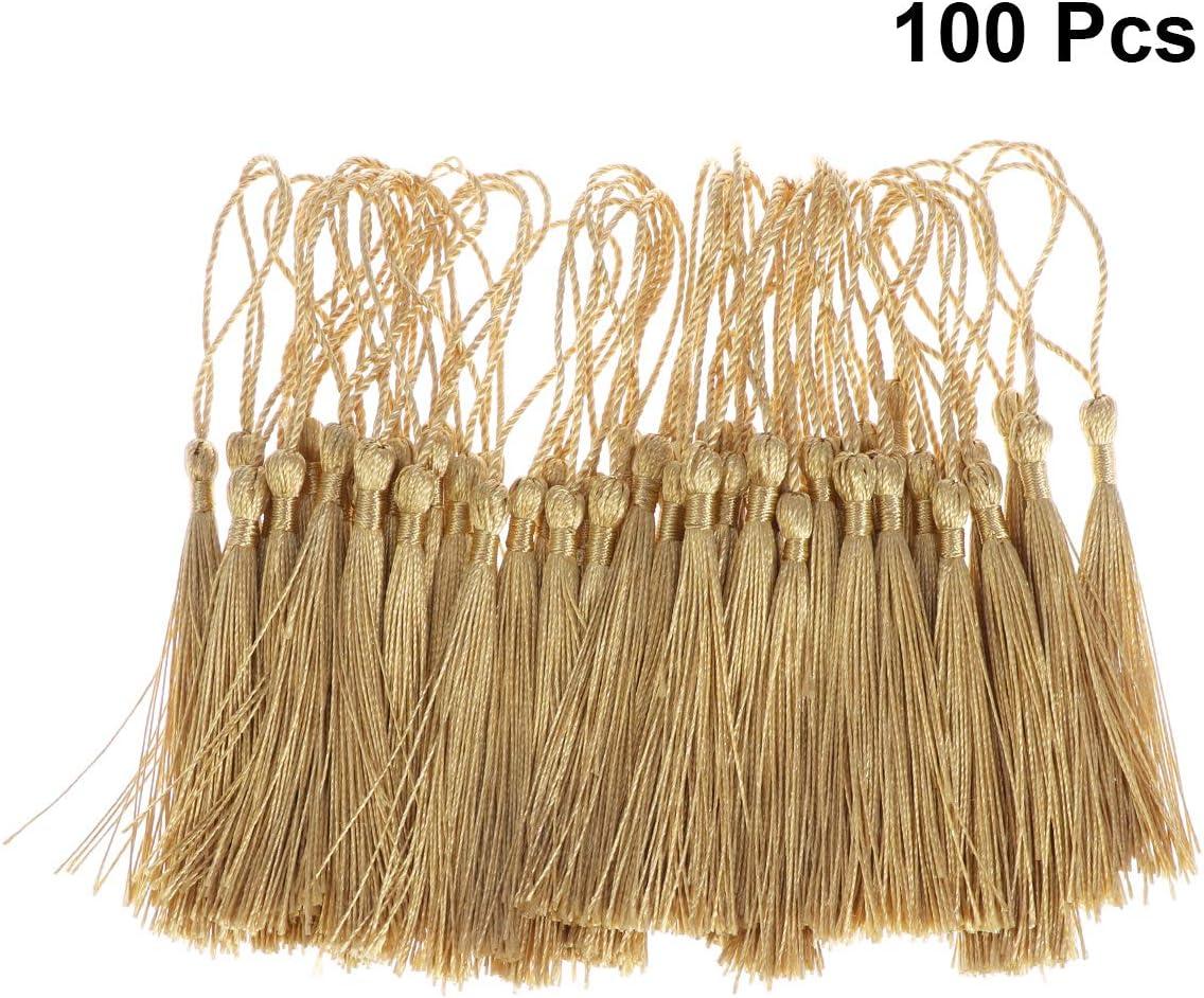 Oro Healifty 100pcs borlas de Hilo Sedoso Borla Nudo Chino para la fabricaci/ón de Joyas Souvenir Party Favors Art and Craft