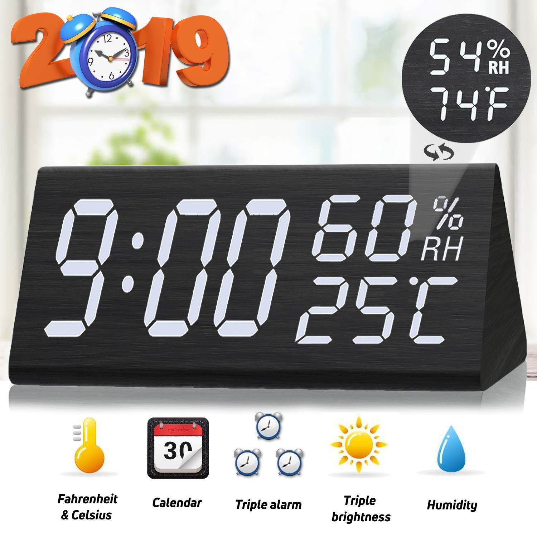 Home & Garden Alarm Clocks Silent Alarm Clock Electronic Desktop Alarm Clock Digital Table Clocks Snooze Function Cables Home Decor Sales Of Quality Assurance