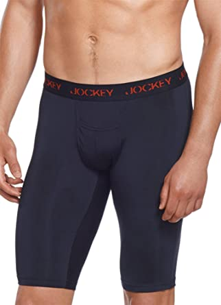 Jockey Men's Underwear Microfiber Performance Quad Short - 2 Pack ...