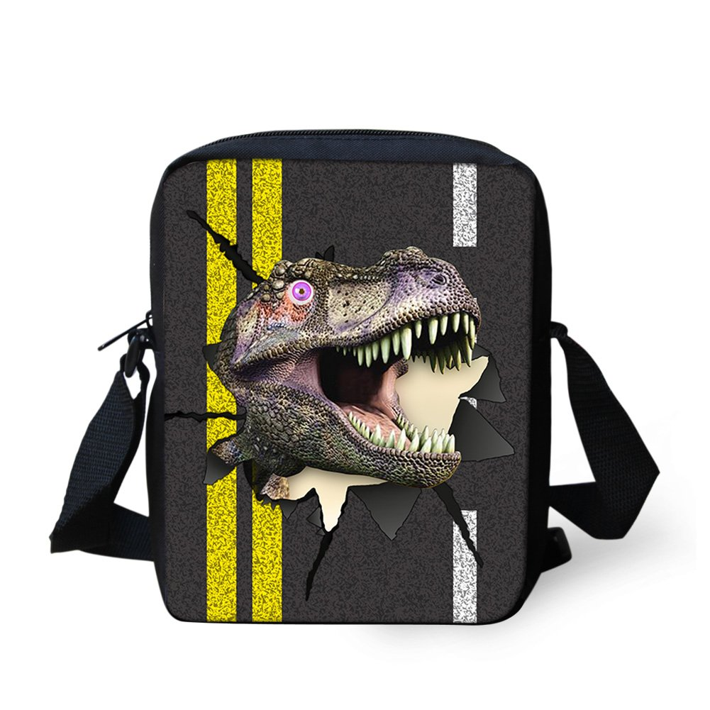 Sannovo Dinosaur Animal School Bag Girl Boy Small Messenger Satchel Mini Coin Purse