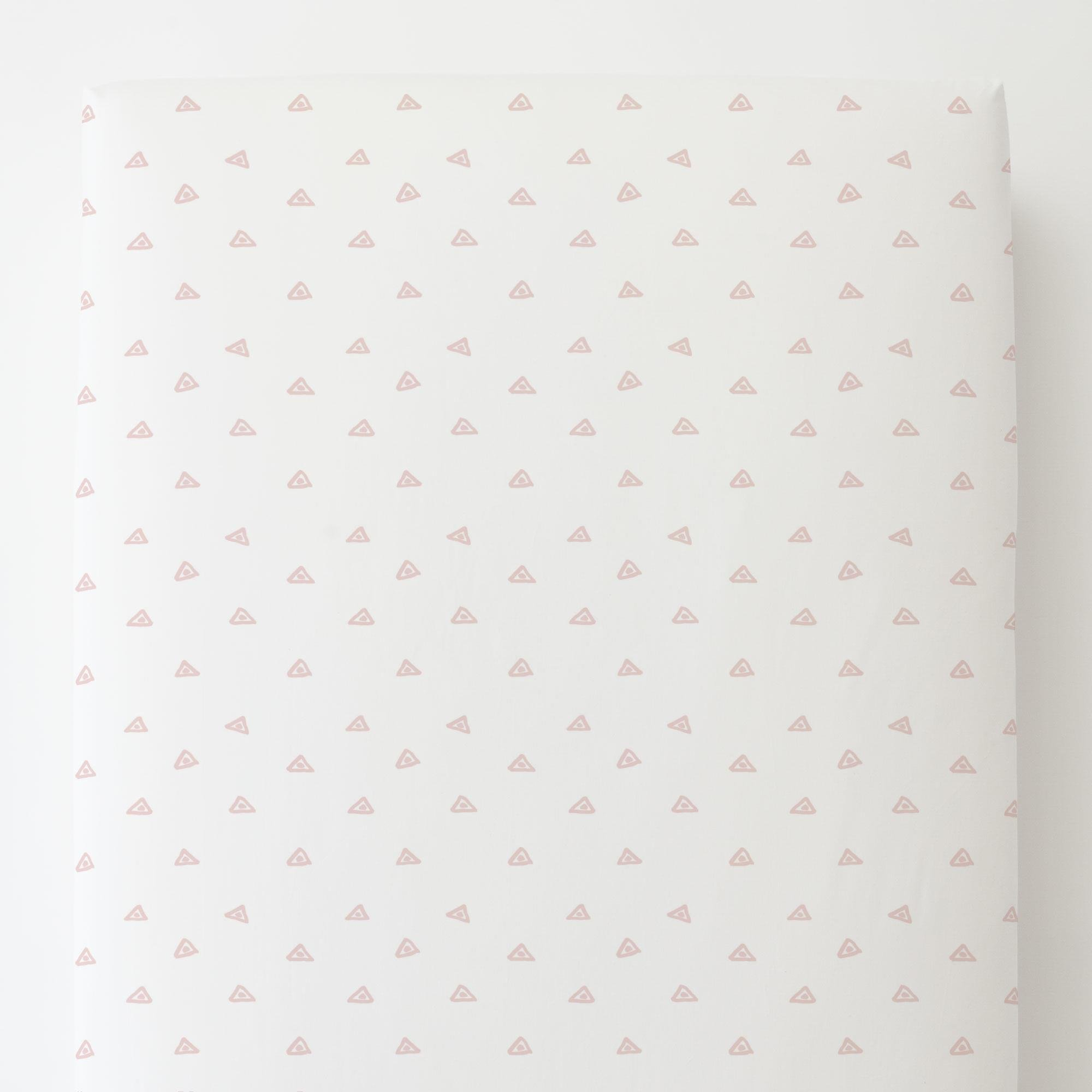 Carousel Designs Pale Pink Triangle Dots Toddler Bed Sheet Fitted