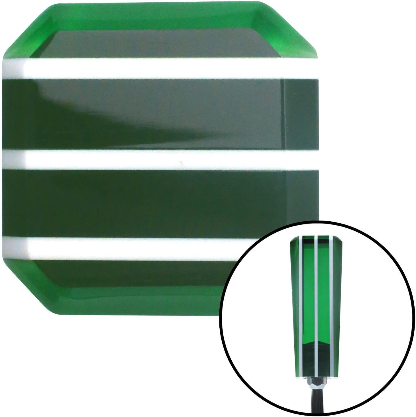 American Shifter 141873 Green Stripe Stix Shift Knob with M10 x 1.5 Insert