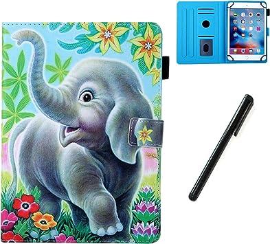 HereMore Funda 10 Pulgadas Universal,Carcasa Antigolpes Estuche Folio Cubierta Protectora para iPad 10.2,Samsung Tab A 10.1/E 9.6,Huawei MediaPad T5 10,Lenovo TB-X103F,YOTOPT/LNMBBS 10.1