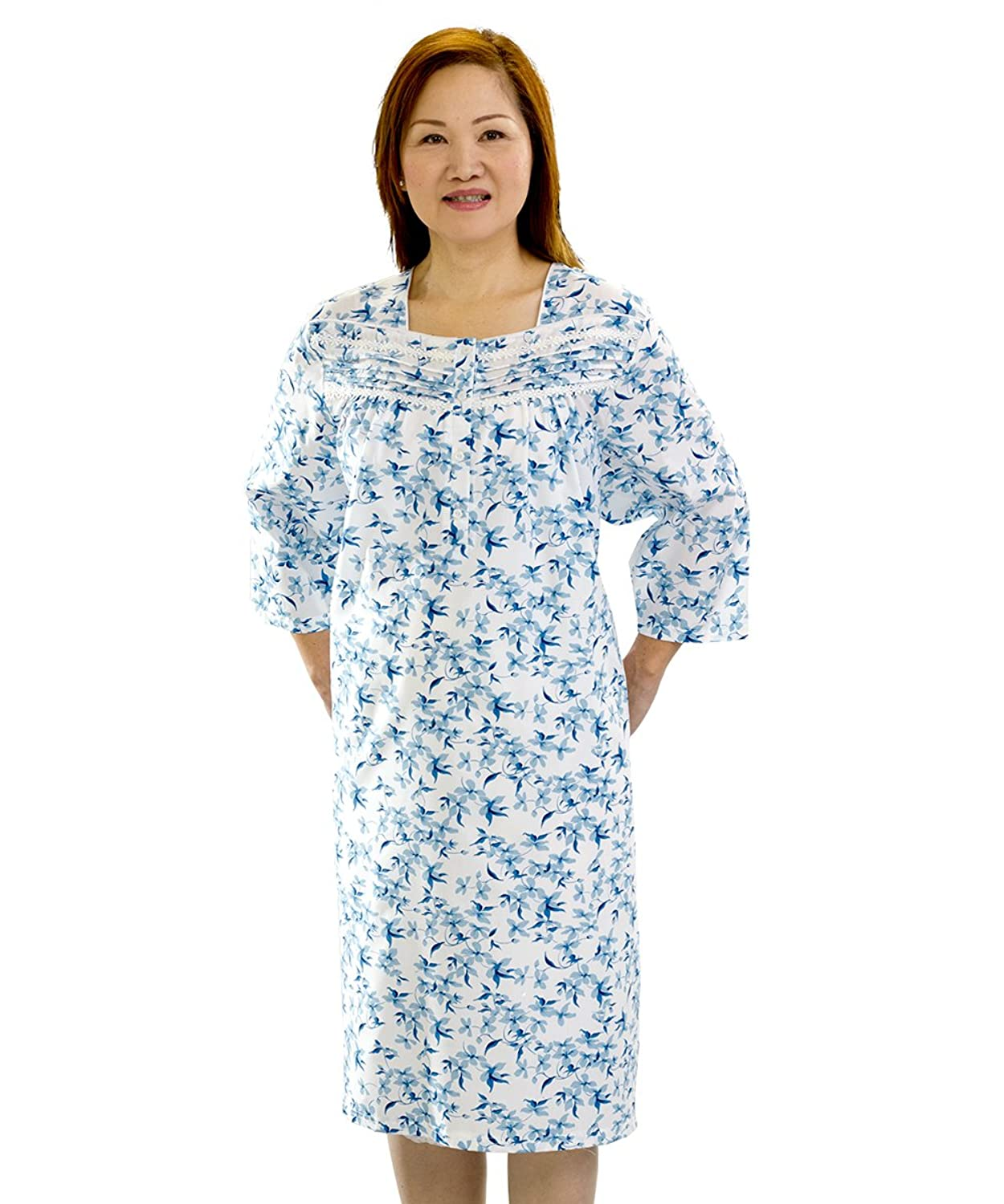 Amazon.com: Adaptive Open Back Knit Nursing Home Nightgown - Easy ...