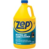 Zep Neutral pH Floor Cleaner Concentrate 1 Gallon ZUNEUT128 - Pro Trusted All-Purpose Floor Cleaner with No Residue,Blue (pac