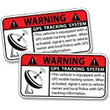 GPS TRACKING Anti Theft Security System Alarm Caution Warning Decal Sticker - VEHICLE