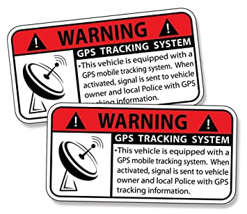 Gps Tracking Anti Theft Security System Alarm Caution Warning Decal Sticker Vehicle
