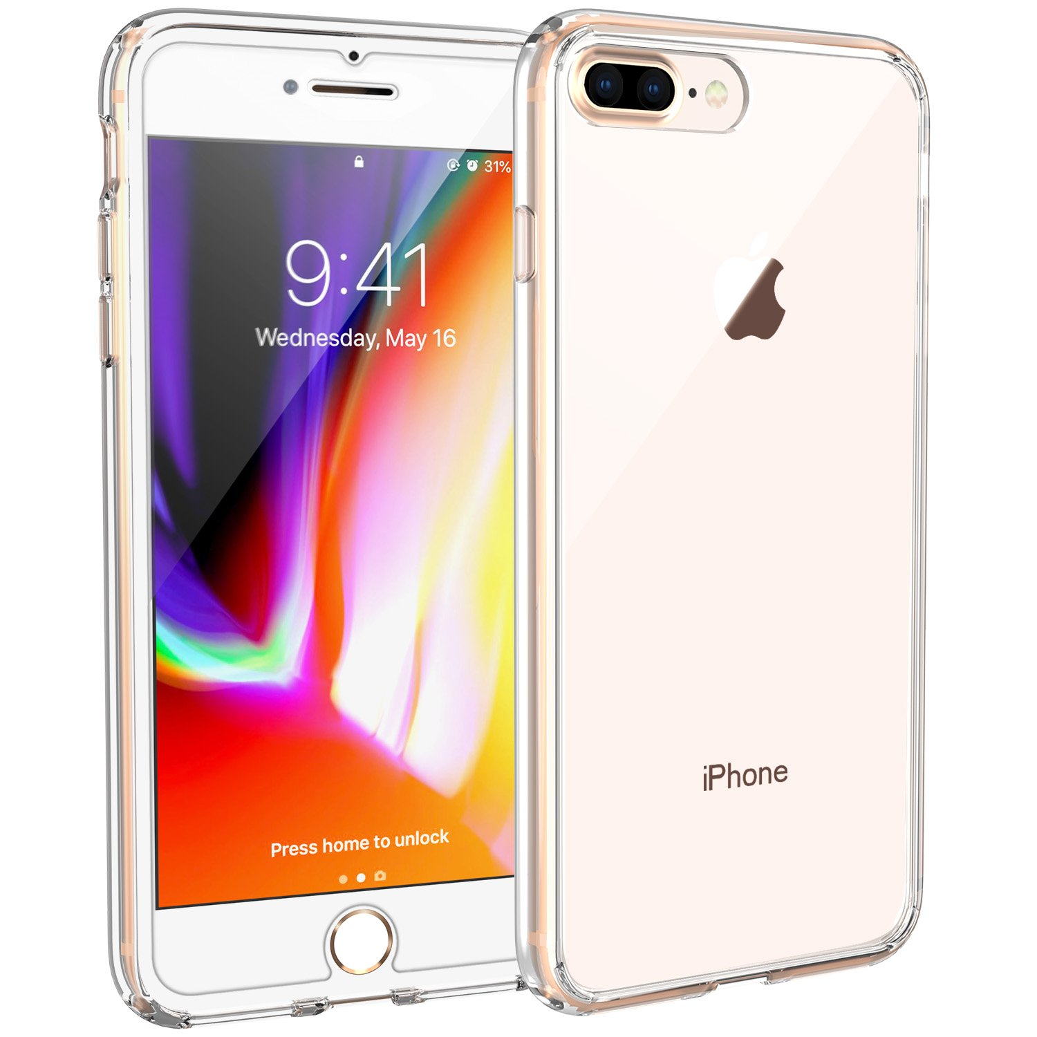 Syncwire Funda iPhone 8 Plus, Funda iPhone 7 Plus -[UltraRock] Funda Protectora para iPhone 7 Plus/8 Plus con protección Avanzada Anti caídas y con ...