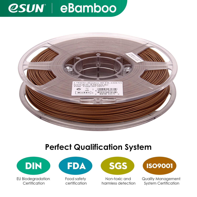 eSUN - Bobina de filamento para impresora 3D PLA (1,75 mm, 0,5 kg ...