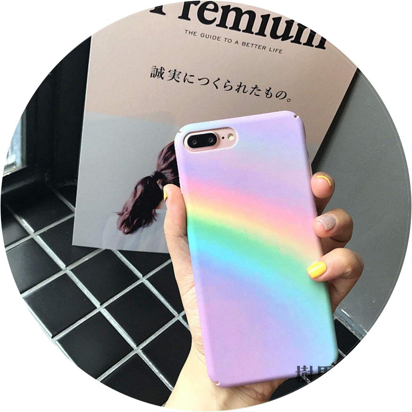 Coque pour iPhone 6 6S 7 8 Plus Motif arc-en-ciel Coloré abstrait ...