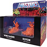 Super 7 Masters of the Universe: Wind Raider and Roton Orange M.U.S.C.L.E. Figure 2-Pack
