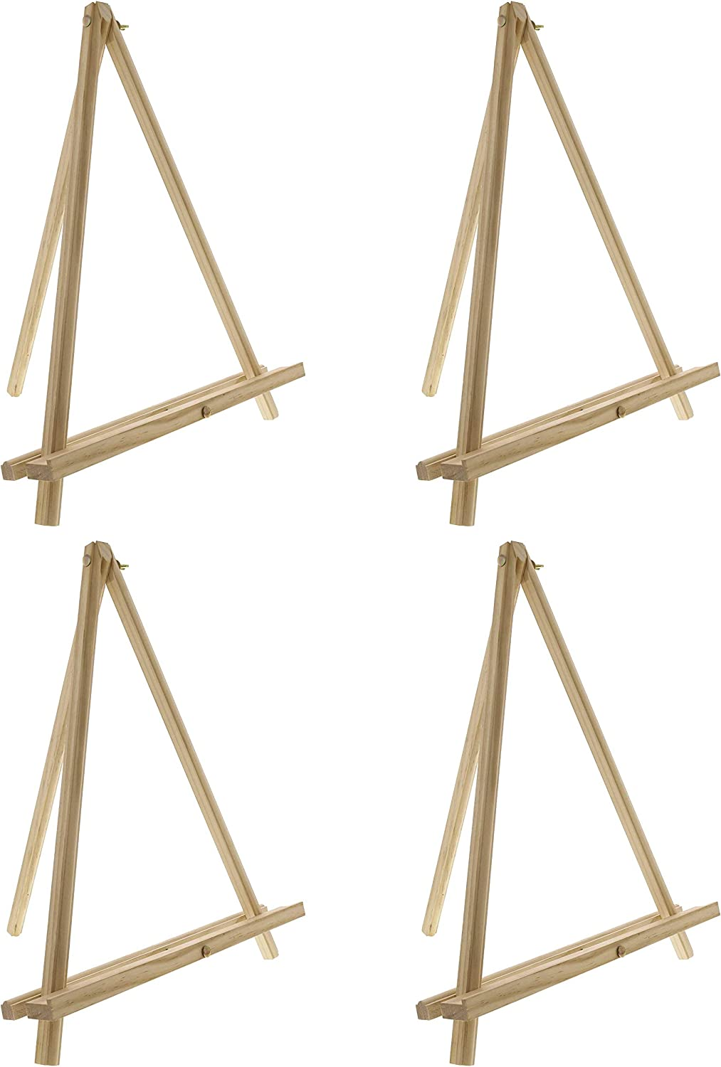 "US Art Supply 19/"" Tall Aluminum Tripod Tabletop Artist Display Easel 4-Easels"