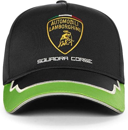 LAMBORGHINI 2020 Adult Squadra Corse Team Cap in Black/Green