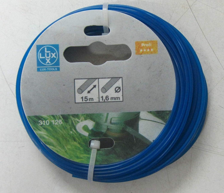 LUX 310126 trimmer Filo da filo spessore mm 1,6 mm Filo lunghezza m 15 m professionale