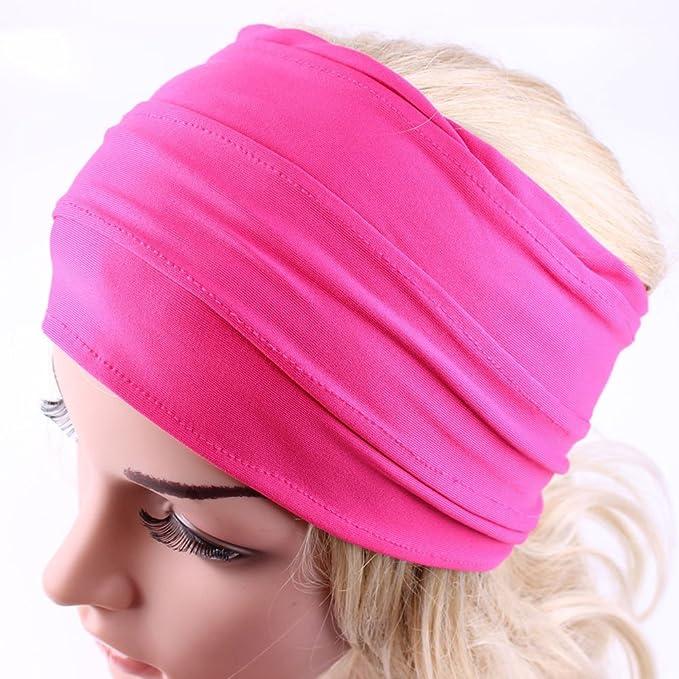 Damen Mädchen Mode Haarband Stirnband Kopfschmuck Yoga Schweißband Breit New
