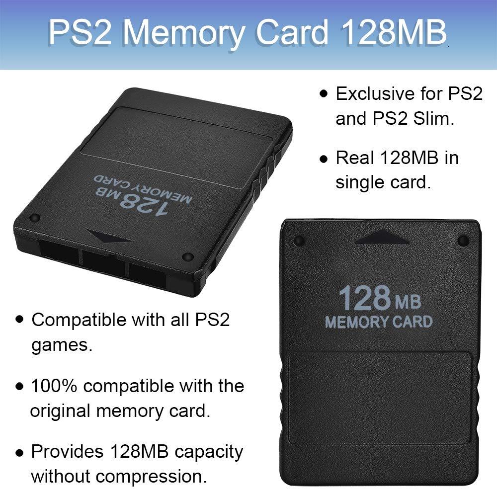 Amazon.com: Tarjeta de memoria PS2, 128 MB de alta velocidad ...