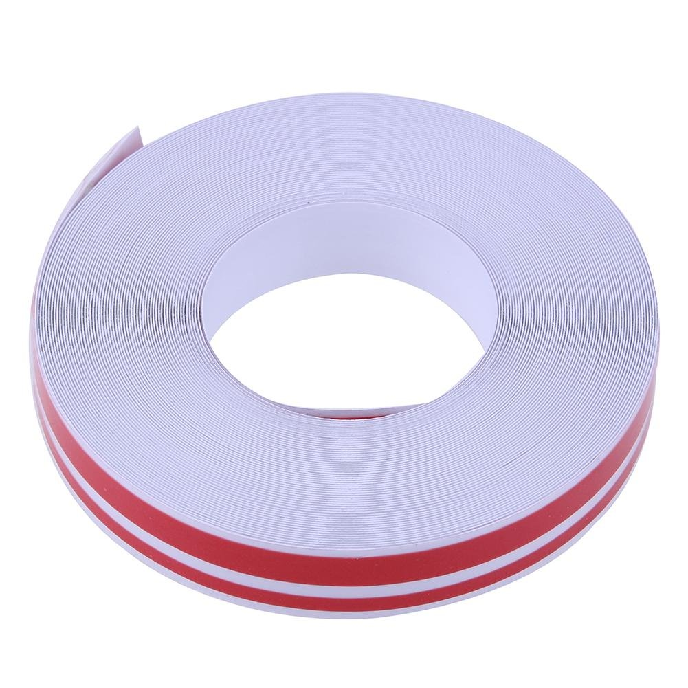 Red Whitelotous 32ft Auto Vinyl Pinstriping Tape Car Sticker Decal Pinstripe Tape Sticker Double Line
